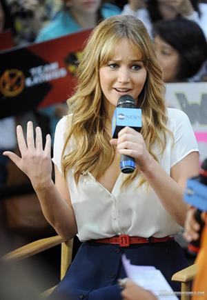 Jennifer Lawrence Good Morning America in New York City on Match 21, 2012