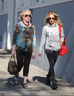 Ashley Tisdale voting in LA 11/6/12