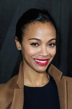 Zoe Saldana Miu Miu Fall / Winter 2013 Fashion Show in Paris - Mar 6, 2013