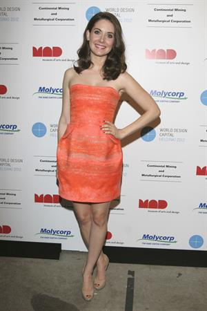 Alison Brie Mad Rare Earths Fluorescent Ball on May 16, 2011