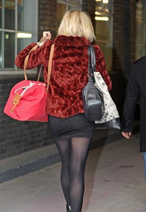Ali Bastian outside London Studios on February 1, 2012