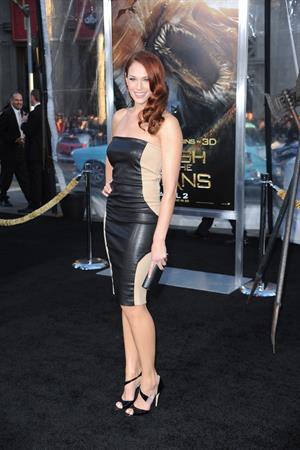 Amanda Righetti attends the LA premiere of Clash of the Titans at Graumans Chinese Theatre on March 31, 2010