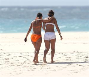 Amelle Berrabah bikini candids Barbados Jan 5, 2010