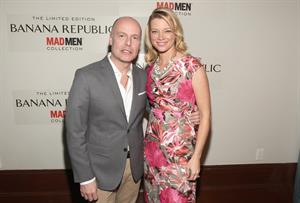 Amy Smart at Banana Republic's Mad Men Spring Collection launch on February 29, 2012