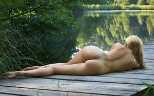 Femjoy Model Corinna naked outside