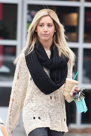 Ashley Tisdale Starbucks in LA 11/29/12