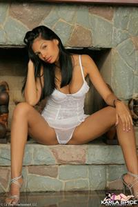 Karla Spice in lingerie