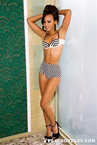 Playboy Cybergirl - Kaylia Cassandra Nude Photos & Videos at Playboy Plus! (Green wall background)