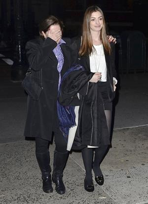 Anne Hathaway night out in New York City on November 21, 2011