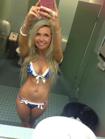 Anonymous in a bikini taking a selfie
