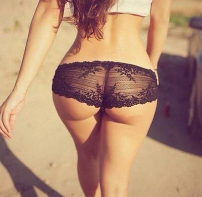 Anonymous in lingerie - ass