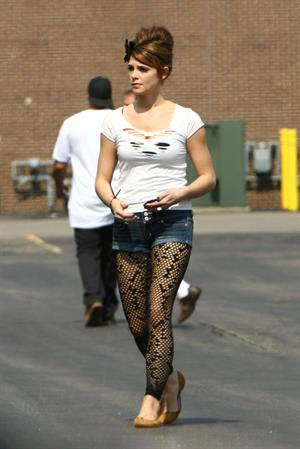Ashley Greene on the set of lol Laughing out Loud in Detroit July 16, 2010