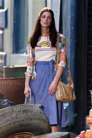 Ashley Greene on the set of CBGB in Savannah on July 2, 2012