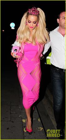Rita Ora as Barbie for Halloween