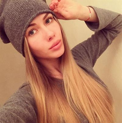 Olya Abramovich taking a selfie