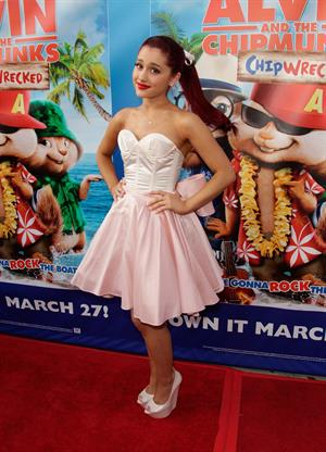 Ariana Grande Alvin and the Chipmunks Chipwrecked dvd release concert in Los Angeles on March 26, 2012