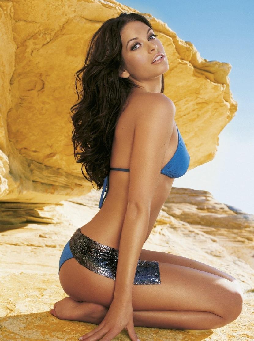 Kim Smith in a bikini