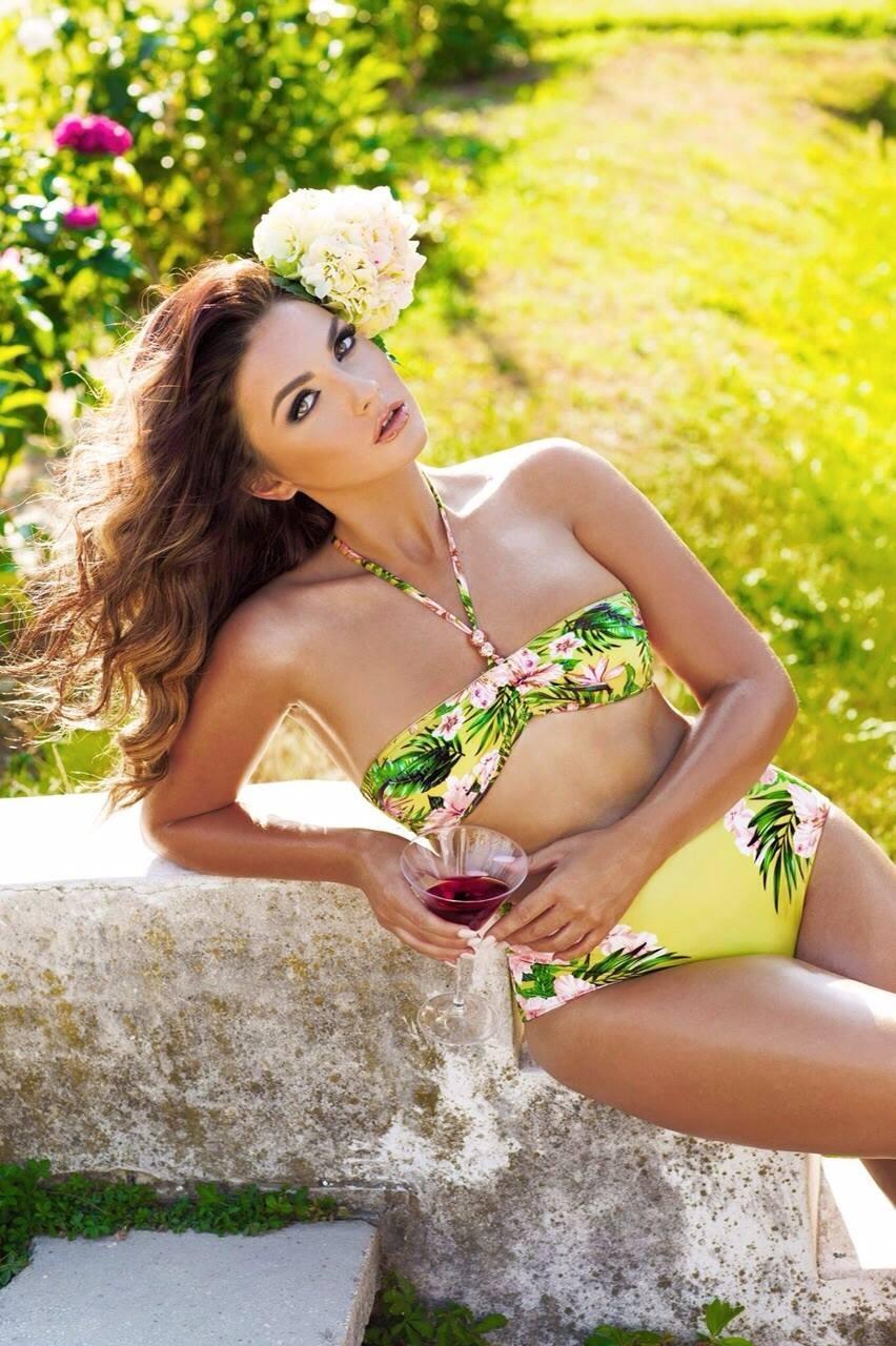 Beatrix Ramosaj in a bikini