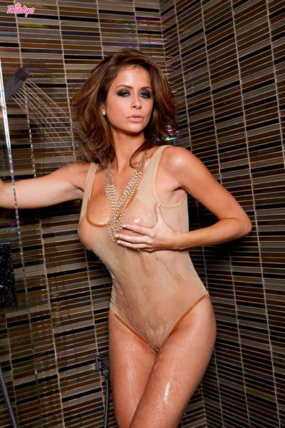 Emily Addison in a bikini