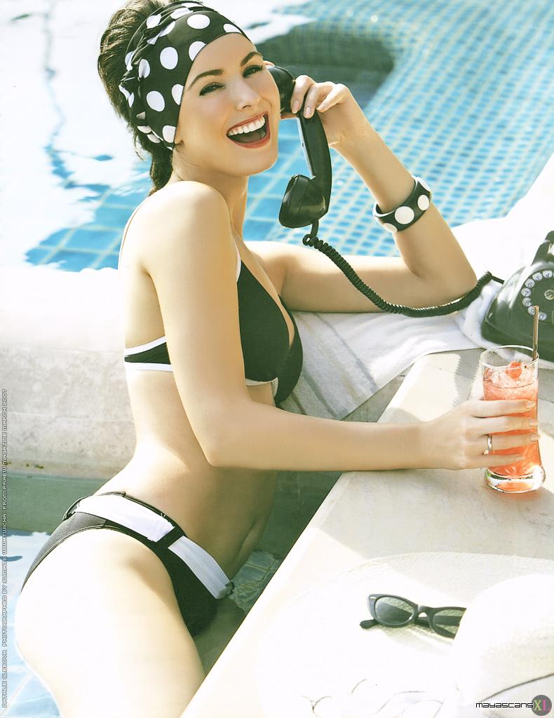 Natalie Glebova in a bikini