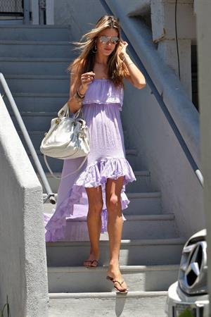 Alessandra Ambrosio leaving a house in Malibu