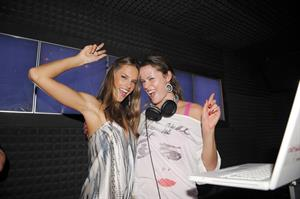 Alessandra Ambrosio parties at MYNT nightclub in Southbeach