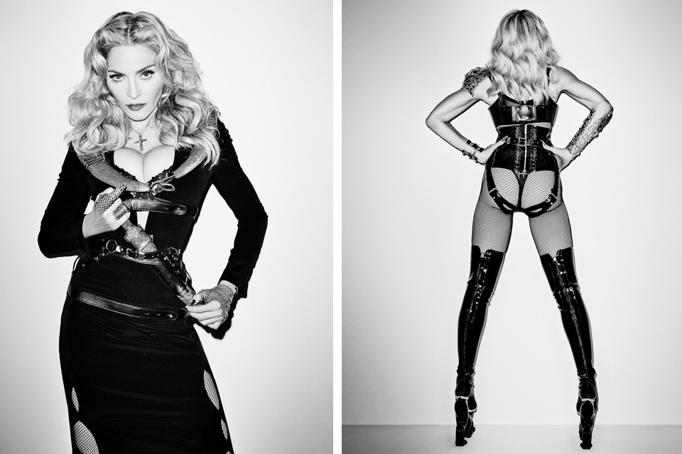 Madonna in lingerie - ass