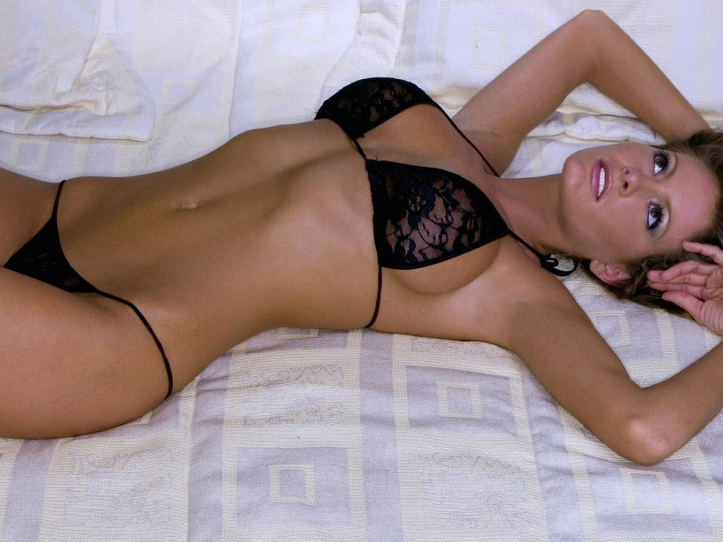 Holly Weber in lingerie
