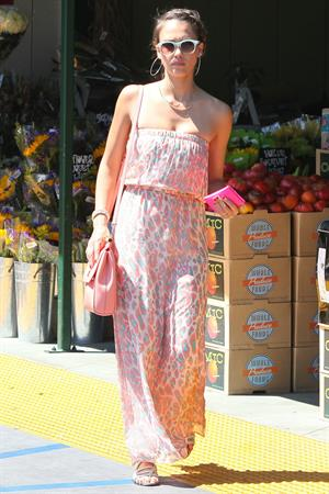 Jessica Alba out shopping in Hollywood on July 21, 2012