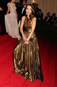 Jessica Alba Metropolitan Museum of Arts Costume Institute Gala on May 7, 2012