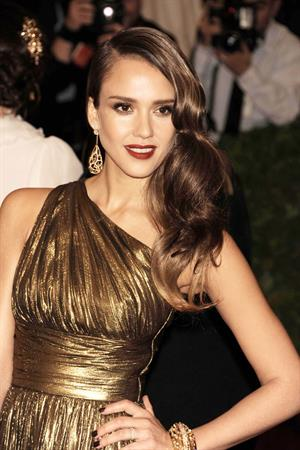 Jessica Alba Metropolitan Museum of Arts Costume Institute Gala on May 7, 2012