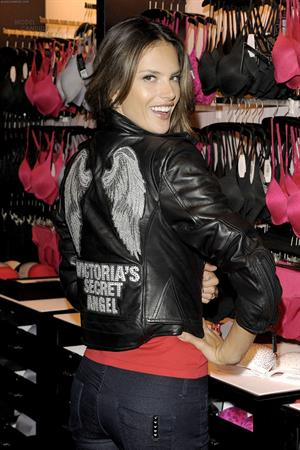 Alessandra Ambrosio the grand opening of a Victoria Secrets store in Toronto on October 28, 2010