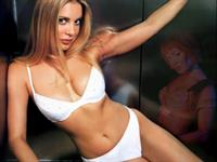Xenia Seeberg in lingerie