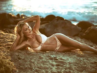 Kate Dros in a bikini