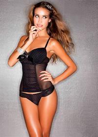 Anna Herrin in lingerie