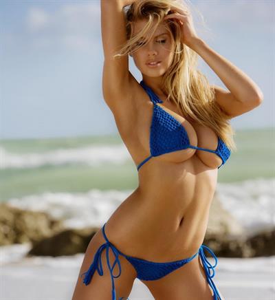 Melanie Ribbe in a bikini