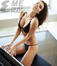 Julia Lescova in lingerie