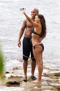 Samantha Mumba in a bikini - ass