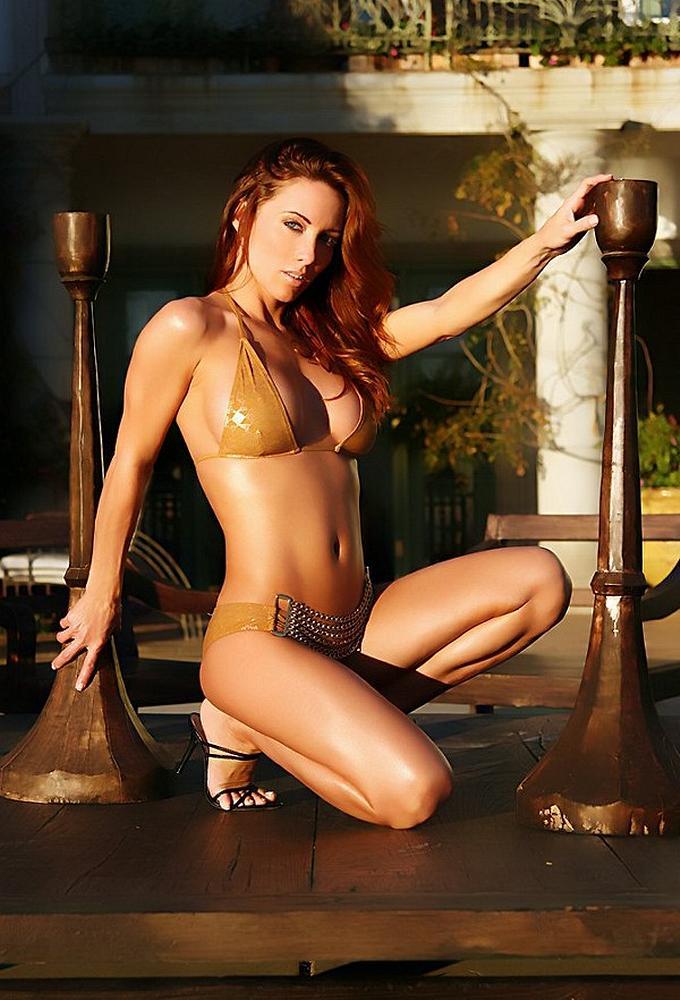 Jennifer Korbin in a bikini