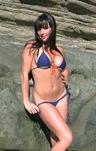 Casie Kimball in a bikini