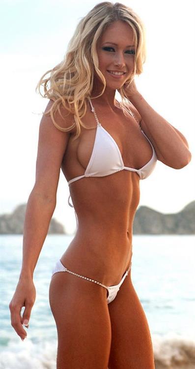 Jenna Renee Webb in a bikini