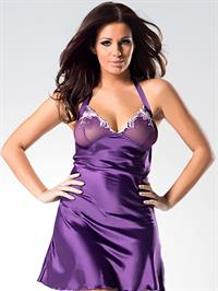 Holly Peers Topless in Pabo Lingerie