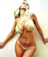 Malene Espensen in a bikini