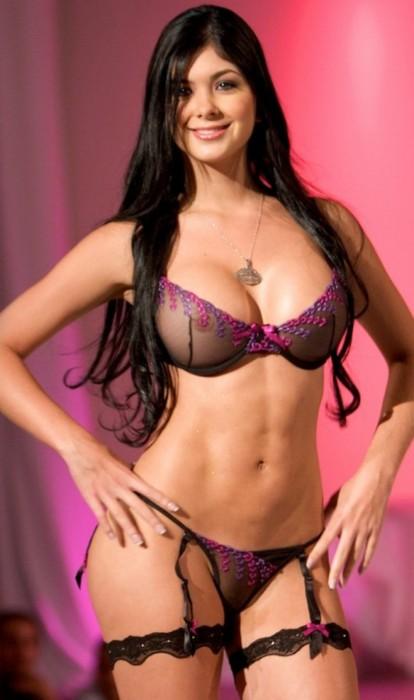 Camila Davalos in lingerie - breasts