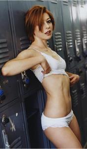 Alyson Hannigan in lingerie