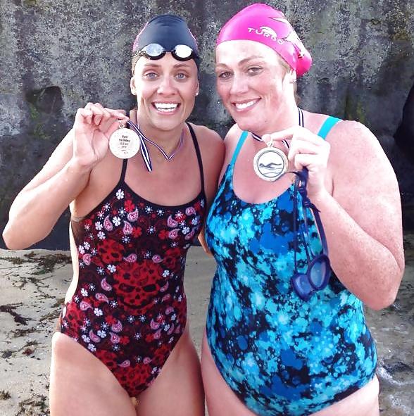Eva and Gudny in a bikini