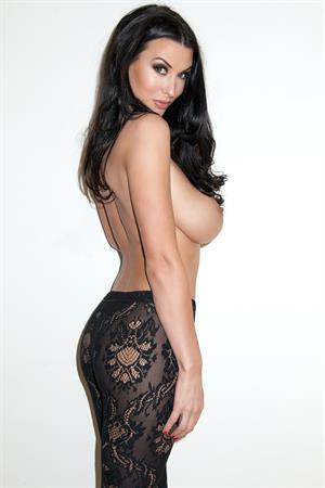 Alice Goodwin in Black Lingerie