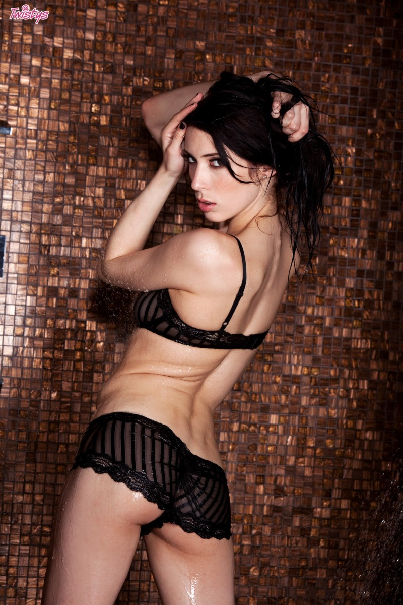 Aiden Ashley in lingerie