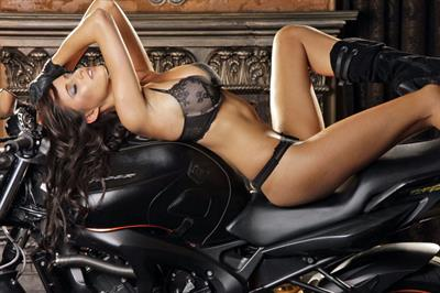 Lauren Vickers in lingerie