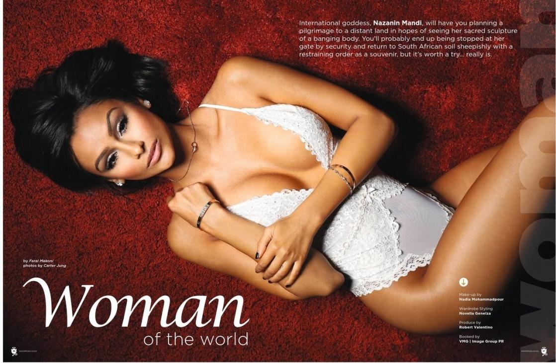 Nazanin Mandi in lingerie